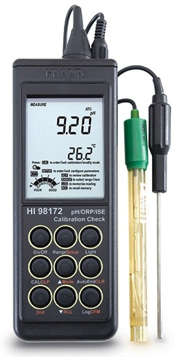 HI-98172N Portable pH/ORP/ ISE Meter With Cal Check [HI-98172N]