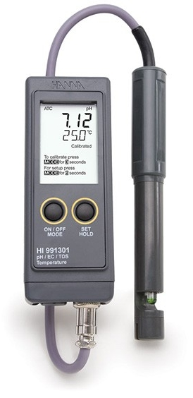 HI-991301N High Range EC, TDS, pH and °C Meter [HI-991301N]