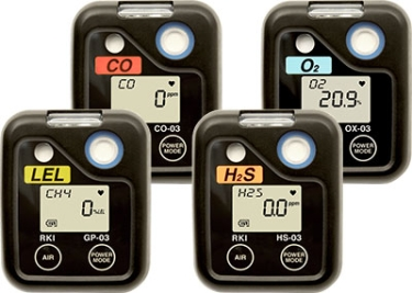 RKI Instruments 03 Series Single Gas Personal Monitor