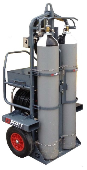 Scott Safety ModulairMax Large Capacity Airline Trolley System