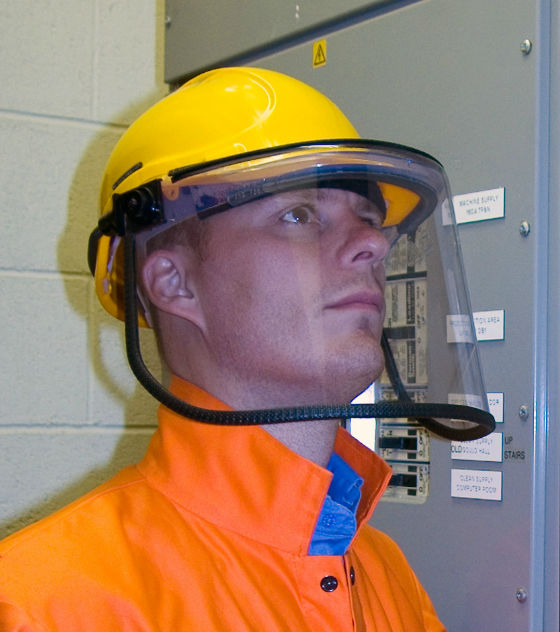 3M Scott Safety FHK67 Helmet Mounted Electrician's Carrier & Visor